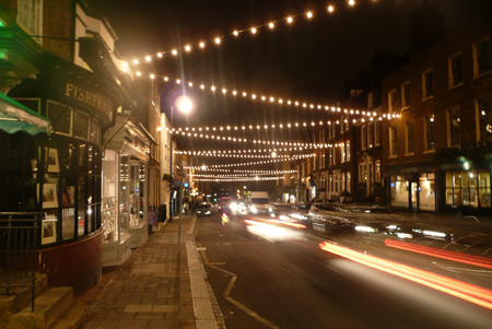 highgate village by night