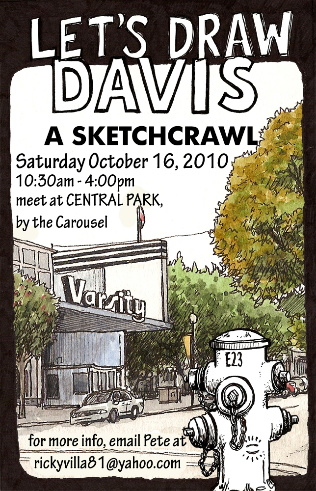 davis sketchcrawl oct 16 2010