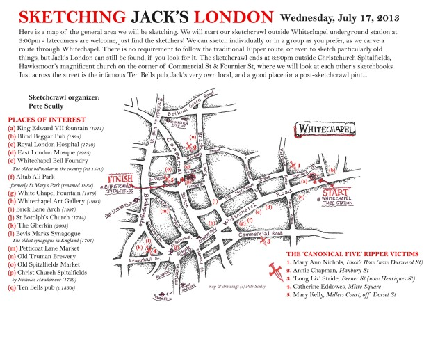 Sketching Jacks London map & guide