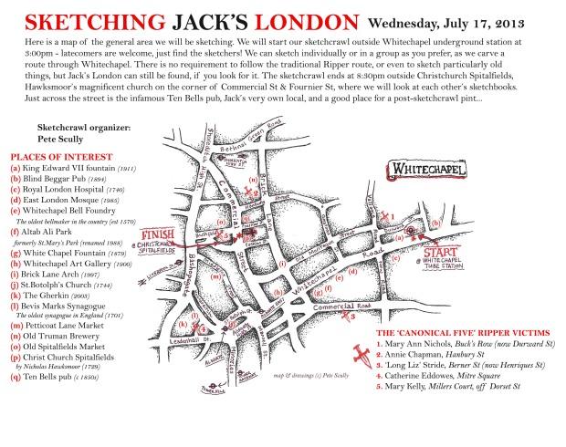 Sketching Jacks London map & guide
