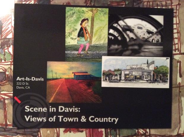 scene in davis postcard