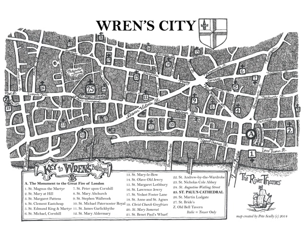 Sketching Wren's London Map sm