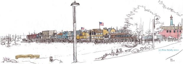 Monterey Fishermans Wharf Pier sm