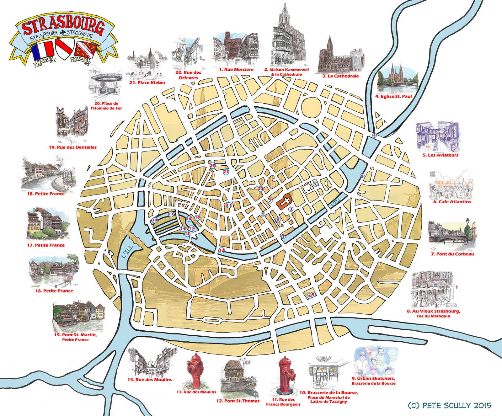 All These Places Have Their Moments Petescully - Strasbourg france map