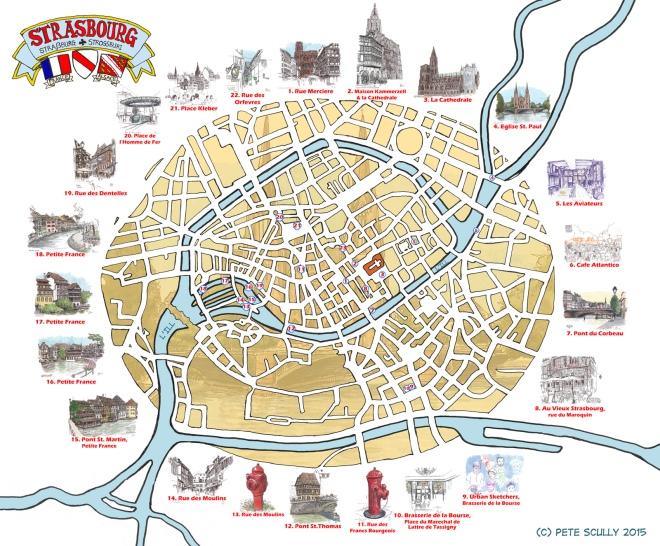 Map of Strasbourg