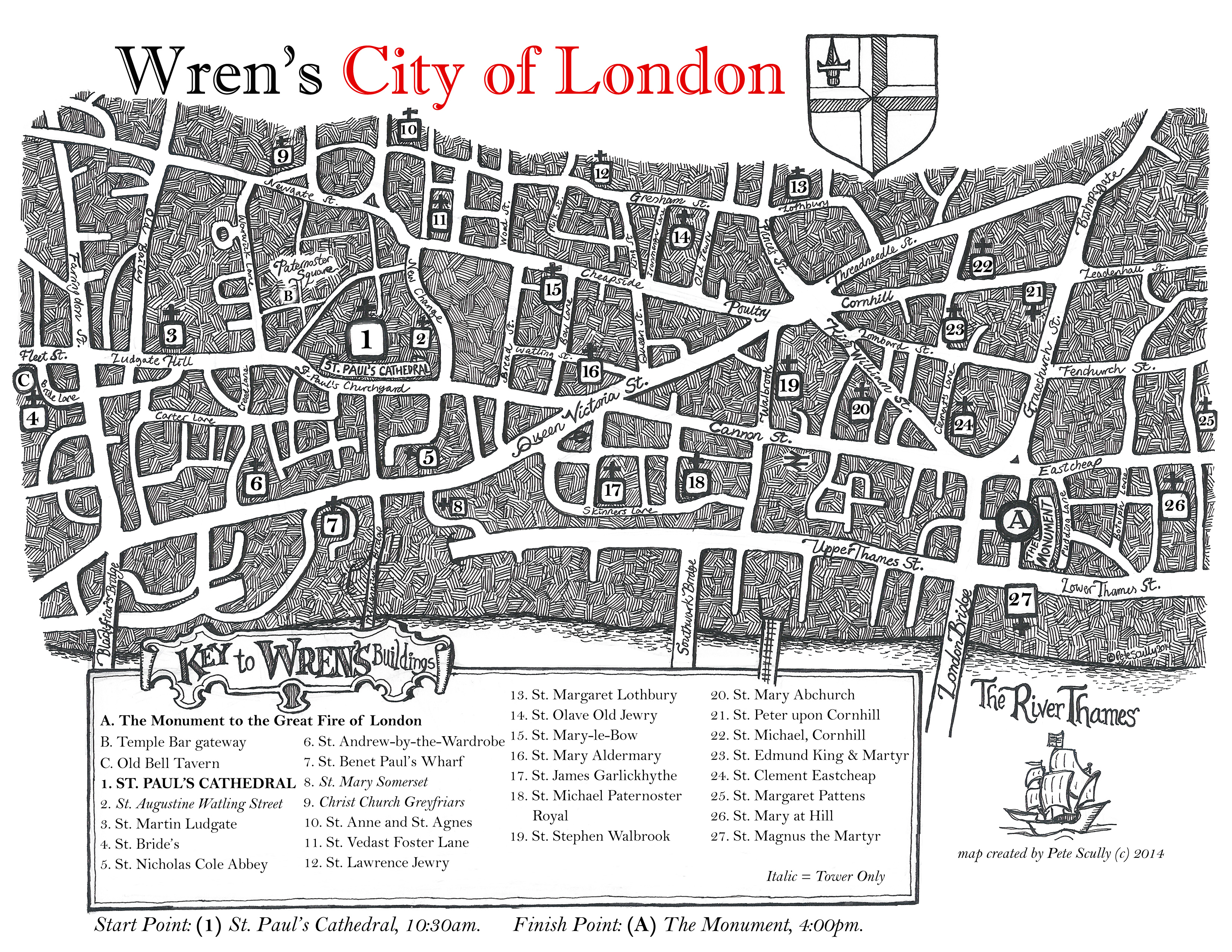 Sketching Wren's London Booklet MAP
