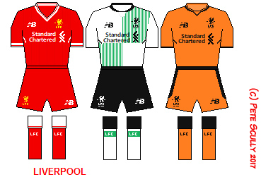 Liverpool s kits are made by New Balance and the home kit is a pretty sweet  one a2032222c