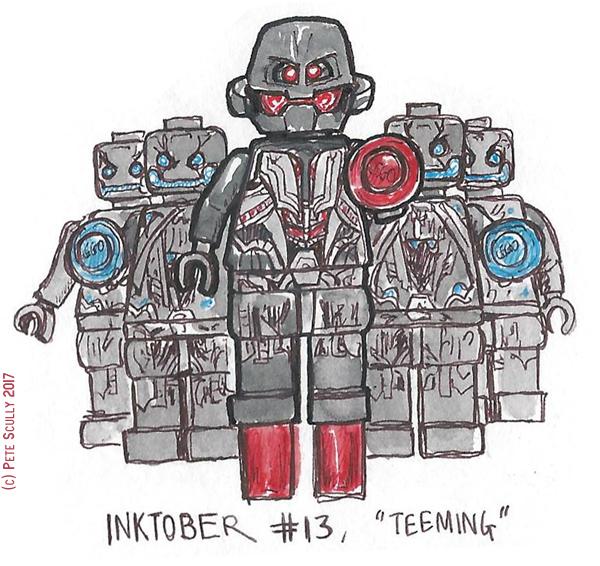 inktober 13 TEEMING sm