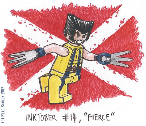 inktober 14 FIERCE sm