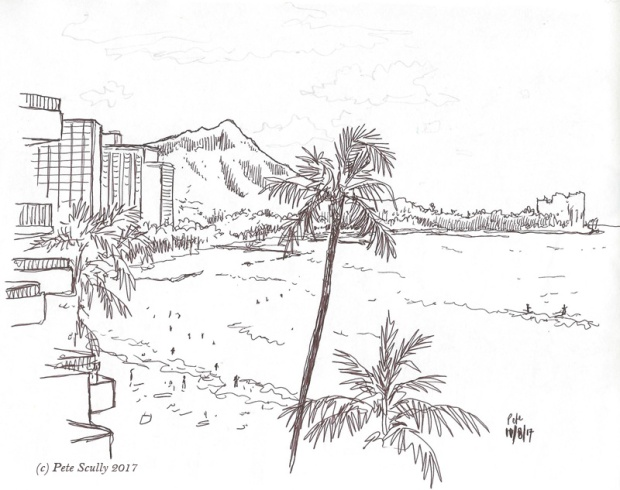 Waikiki view morning sm