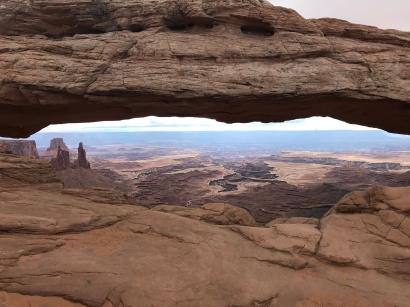 view through Mesa Arch